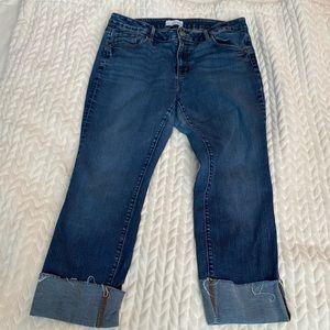 Loft cuffed cropped jeans